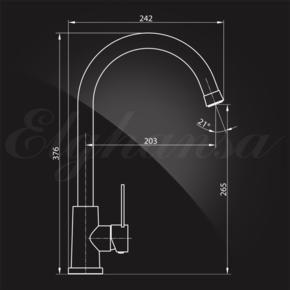 Смеситель Elghansa STAINLESS STEEL 56C4249-Steel для кухни однорычажный, нержавеющая сталь