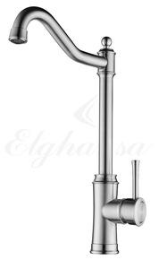 Смеситель Elghansa WASCHTISCHARM 56D4737-Steel для кухни однорычажный, хром