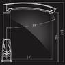 Смеситель Elghansa NEW WAVE ZETA 5907592 для кухни двухвентильный, хром