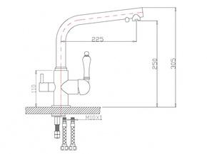 Смеситель под фильтр Zorg ZR 313 YF-33 SATIN