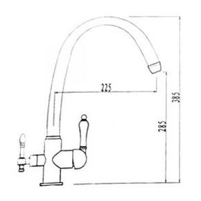 Смеситель для кухни под фильтр KAISER Vincent 31145-3 Bronze