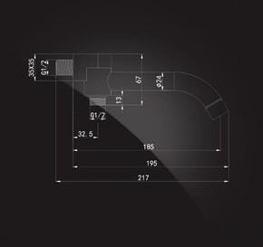 Излив встраиваемый настенный 185 мм Elghansa RS-5P с переключателем, хром