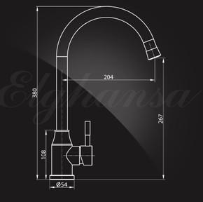 Смеситель Elghansa 56C4131-Steel для кухни однорычажный, хром