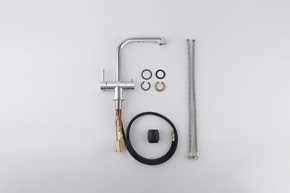 Смеситель для кухни с подключением фильтра и выдвижной лейкой Timo Saona 2346/00FL хром