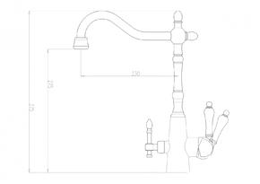 Смеситель под фильтр ZORG ZR 335YF-33-BR