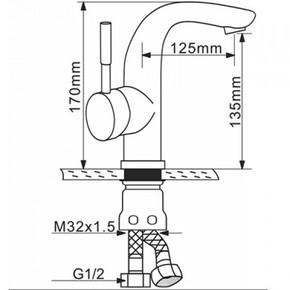 Смеситель для раковины Melana MLN-F6105P