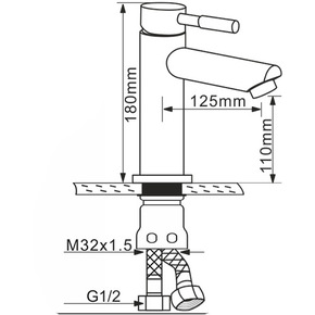Смеситель для раковины Melana MLN-F6106