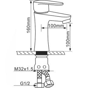 Смеситель для раковины Melana MLN-F6107