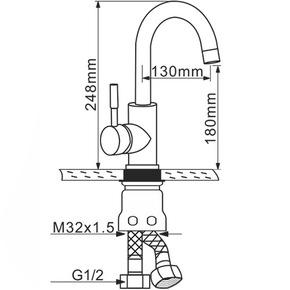Смеситель для кухни Melana MLN-F6108