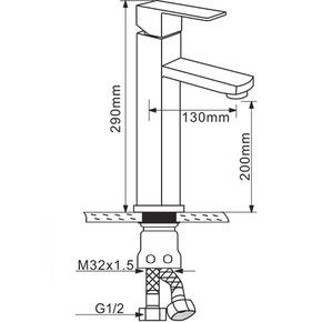 Смеситель для раковины Melana MLN-F6110