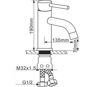 Смеситель для раковины Melana MLN-F6111