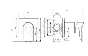 Смеситель Elghansa 24Q0788 (Set-62) для скрытого монтажа с набором для гигиенического душа