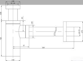 Сифон для раковины Timo Сифон 958-L Антик