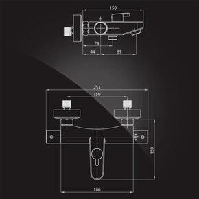 Смеситель Elghansa TERMO 6700857 с термостатом, хром