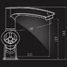 Смеситель Elghansa NEW WAVE SIGMA 1907595 для умывальника двухвентильный, хром