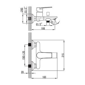 Смеситель для ванны Iddis Edifice EDISB00i02