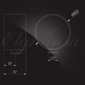 Elghansa SHOWER HOSE OUTLET WS-5N подключение для душевого шланга 1/2, хром