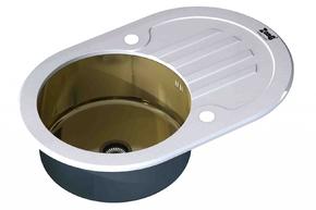 Кухонная мойка ZORG GL-7851-OV-WHITE-BRONZE