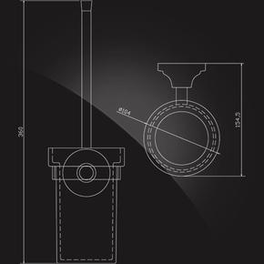 Держатель ерша настенный Elghansa CARRINGTON CRG-810 стекло, хром