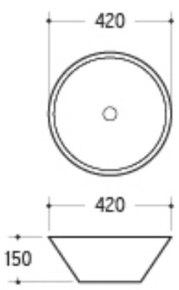 Керамическая раковина Melana MLN-7020