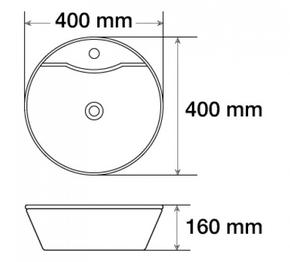 Керамическая раковина CeramaLux 7026В, белый