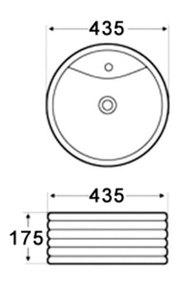 Керамическая раковина Melana MLN-7197