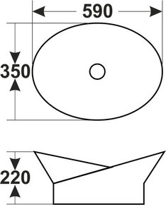 Керамическая раковина Melana MLN-7203
