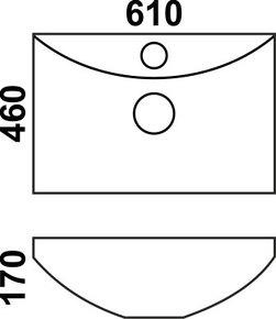 Керамическая раковина Melana MLN-7211