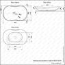Керамическая раковина Melanа MLN-78124