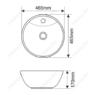 Керамическая раковина Melanа MLN-7010