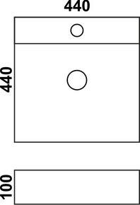 Керамическая раковина Melana MLN-7657