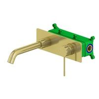 Смеситель для раковины встроенный Timo Saona 2371/17SM золото матовое