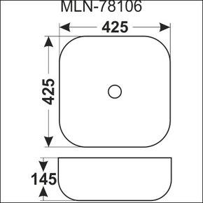 Керамическая раковина Melana MLN-78106