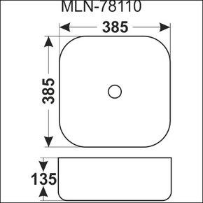 Керамическая раковина Melana MLN-78110