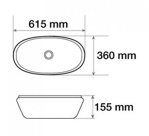 Керамическая раковина CeramaLux 7811А