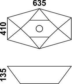 Керамическая раковина Melana MLN-78125