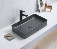 Керамическая раковина для ванной Ceramalux 78189MDH-2 Серый