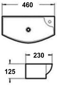 Керамическая раковина Melana MLN-7946