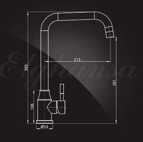 Смеситель Elghansa 56A4131-Steel для кухни однорычажный, хром