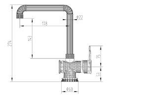 Смеситель для кухни Zorg A 418 K-CHROME