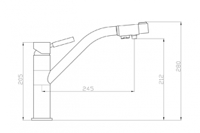 Смеситель под фильтр ZORG ZR 401 KF  SATIN