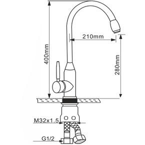 Смеситель для кухни Melana MLN-F8102
