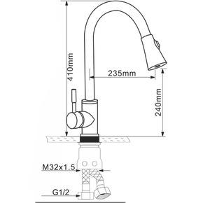 Смеситель для кухни Melana MLN-F8110