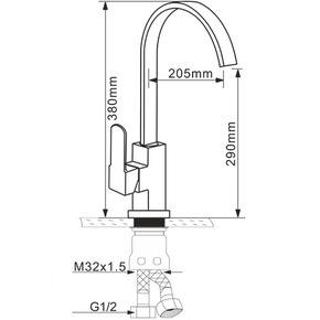 Смеситель для кухни Melana MLN-F8112