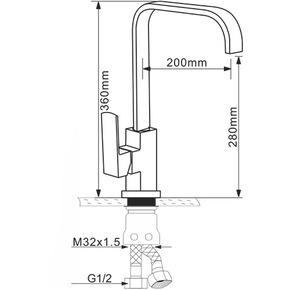 Смеситель для кухни Melana MLN-F8113