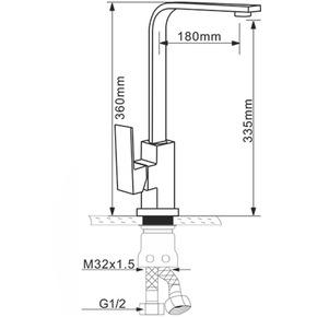 Смеситель для кухни Melana MLN-F8114