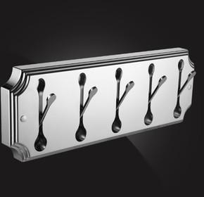 Панель с 5 плоскими крючками Elghansa HRM-670-Chrome, хром