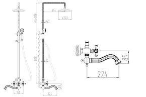 Душевая система Zorg A 7002DS-SL