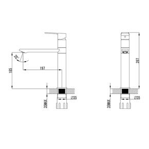 Смеситель для кухни Iddis Edifice Granucryl Top Coat, черный ED1BBSG05