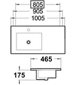 Керамическая раковина Melana MLN-9080ER